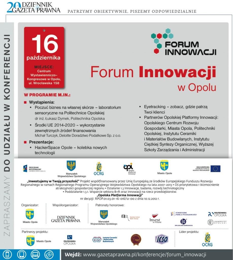 Reklama Forum Innowacji 2014