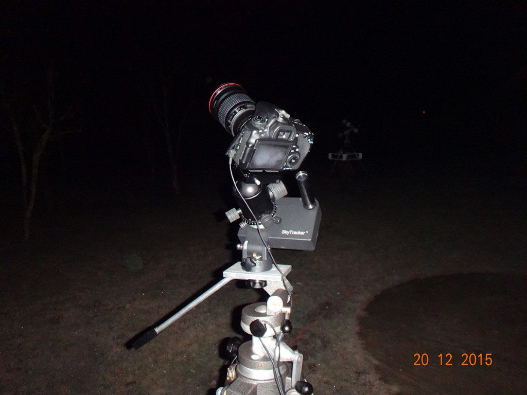 Zestaw uzyty do wykonania zdjecia komety-1
