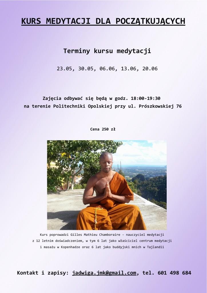 plakat - kurs medytacji 2