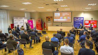 trzecia edycja konferencji Ratownictwo i Energetyka RiE'2021 organizowana przez Stowarzyszenie Inżynierów i Techników Pożarnictwa, Państwową Straż Pożarną, Tauron Dystrybucja oraz Politechnikę Opolską